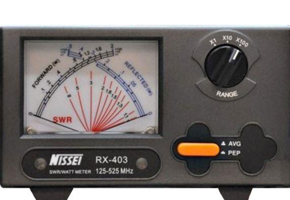 RX-403 SWR/POWER - Cross Needle Meter 125 - 525MHz 2/20/2