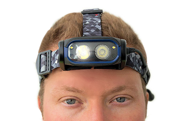 NIGHTSEARCHER HT800RX HEAD TORCH AUTODIM 6 USB BATTERY