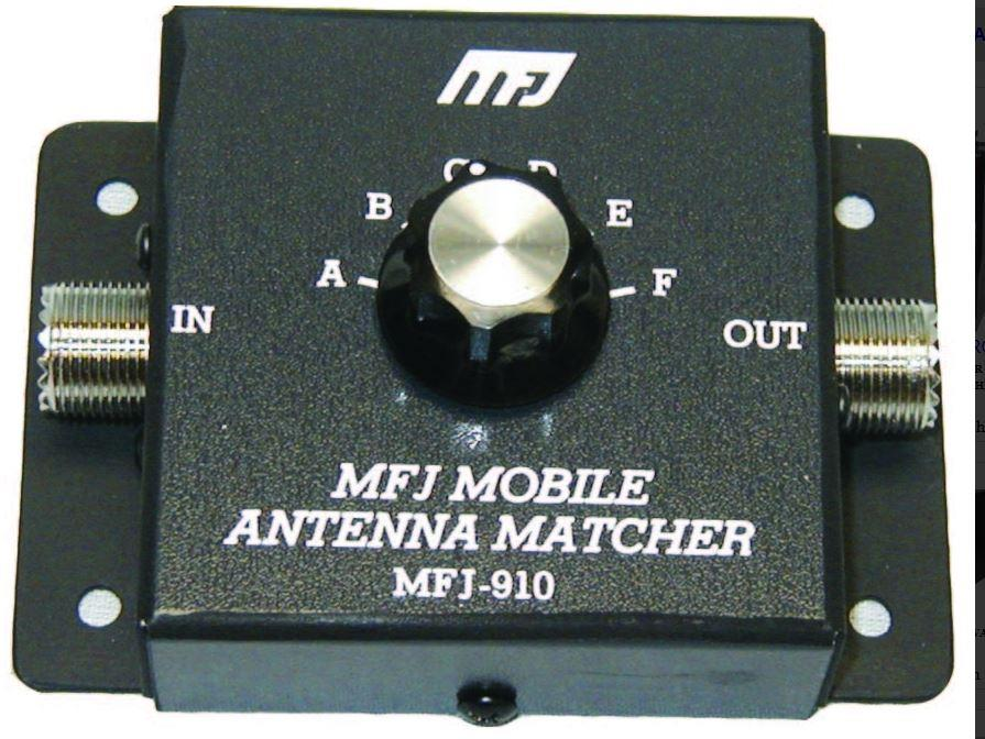 MFJ-910 MOBILE ANT. MATCHER, CAPACITVE, 200 WATTS, 10-80M