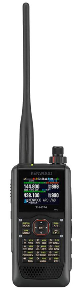 Kenwood TH-D74E VHF/UHF håndapparat.Digital(D-Star),APRS,GPS