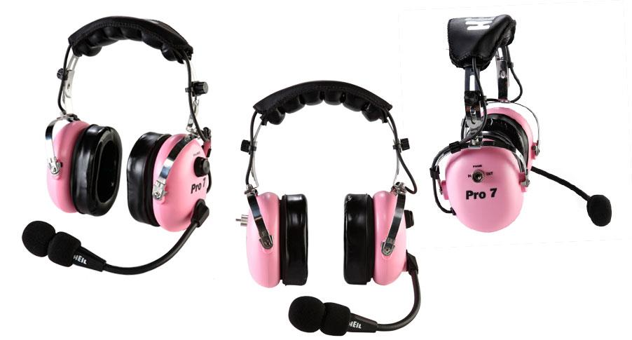 Pro 7 ICPK Heil Industrial headset m/elec.mic(w/AD-1-IC)PINK
