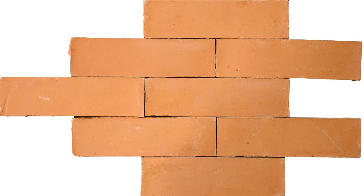 Terracotta bricks orange 6x22x2 cm