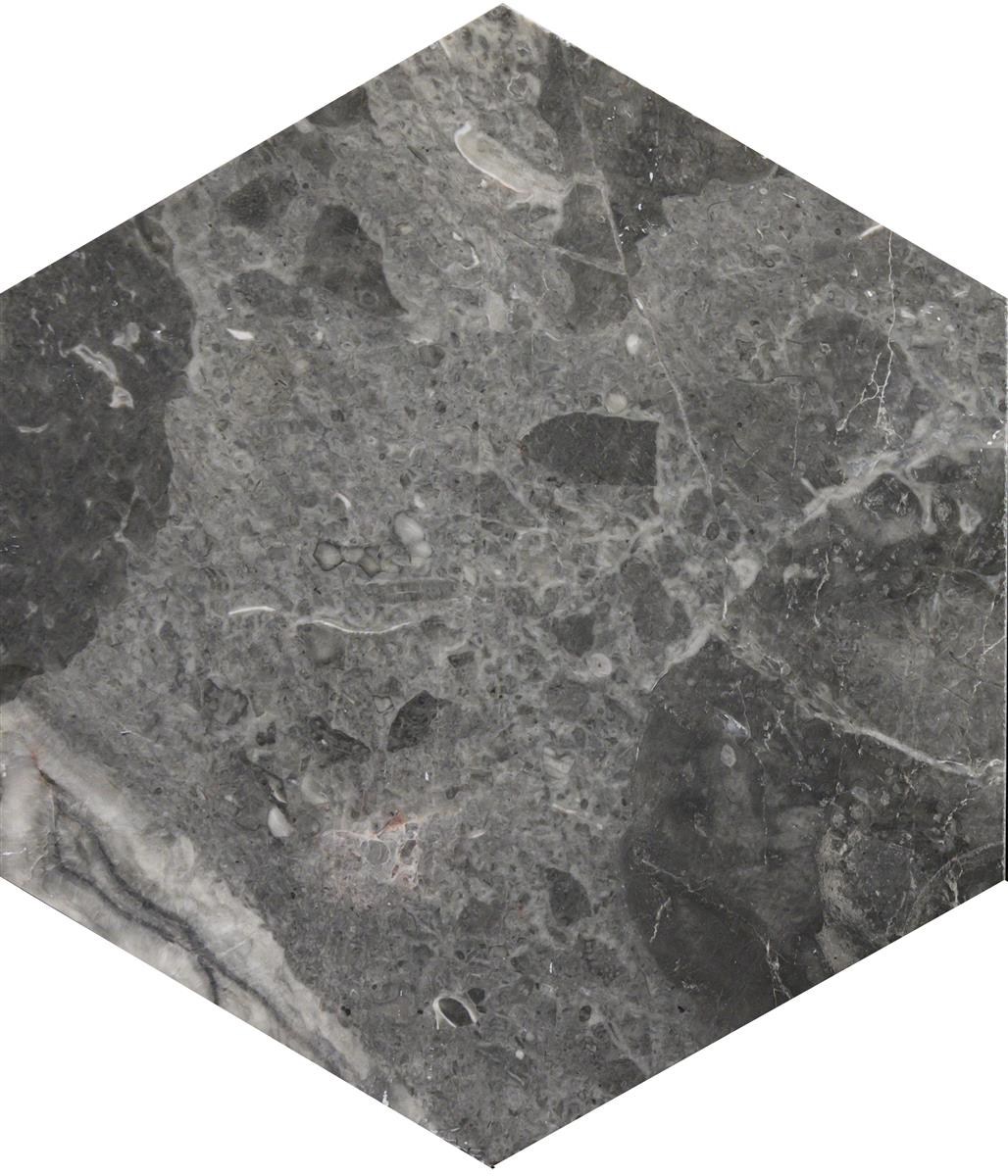 Roma Grey Marmor Hexagon 15x17,3x1 cm