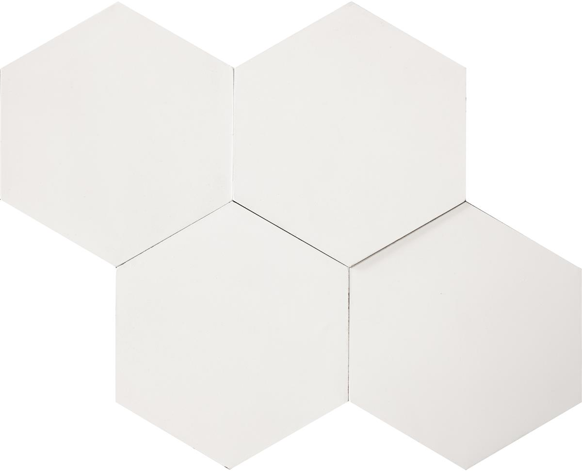 Hexagon White 17,4x15x1,6 cm