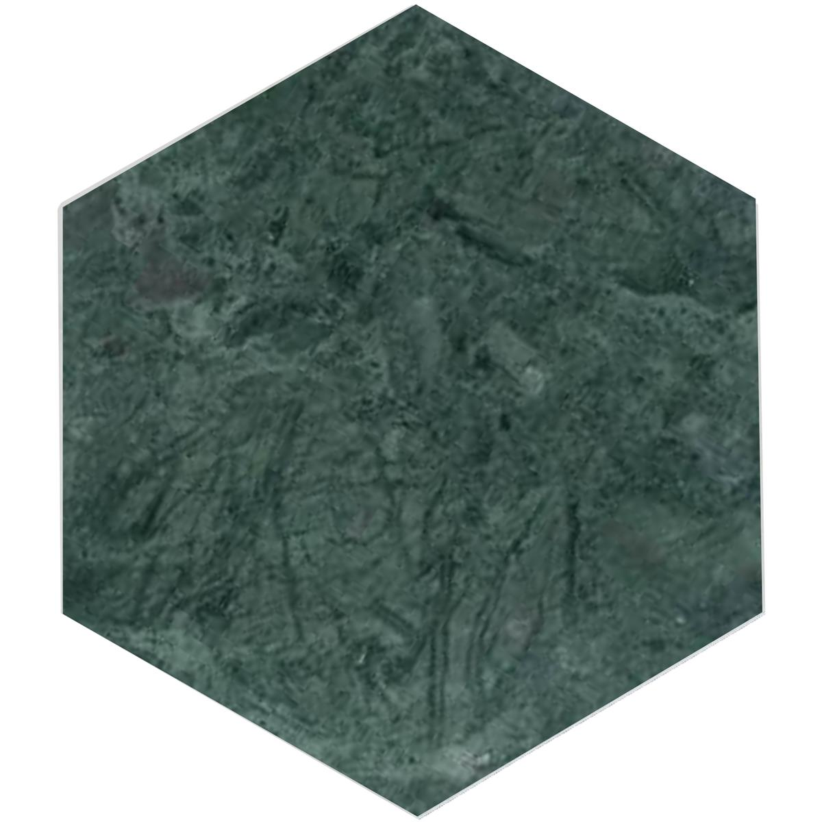 Indian Green Marmor hexagon 17,3x1 cm