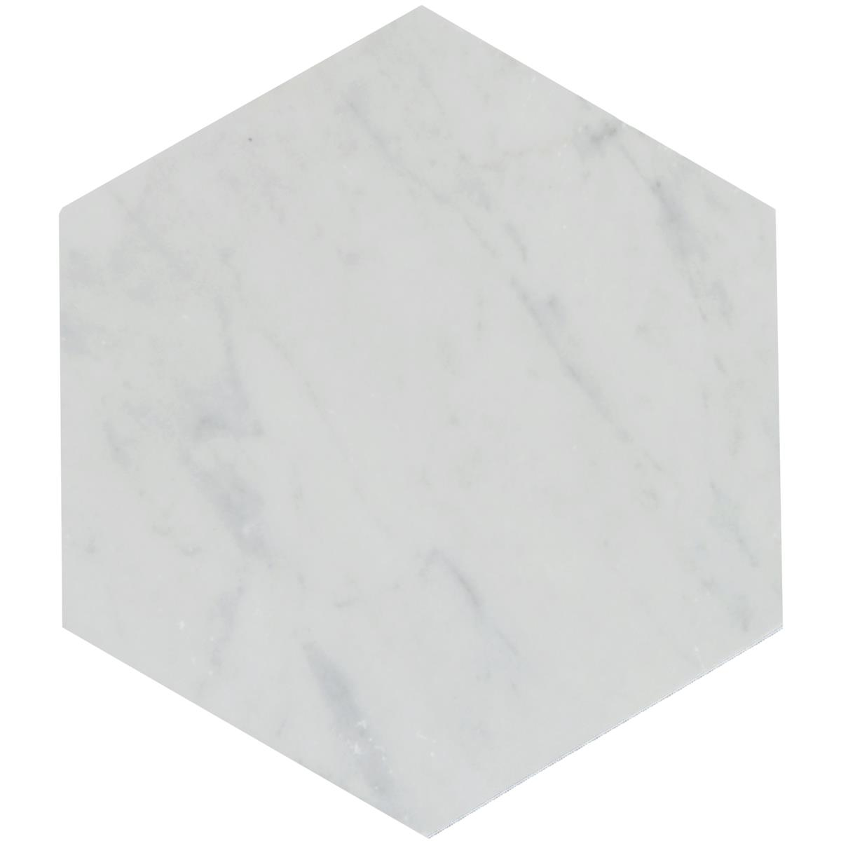 Carrara Hexagon marmor 15x17,3x1 cm