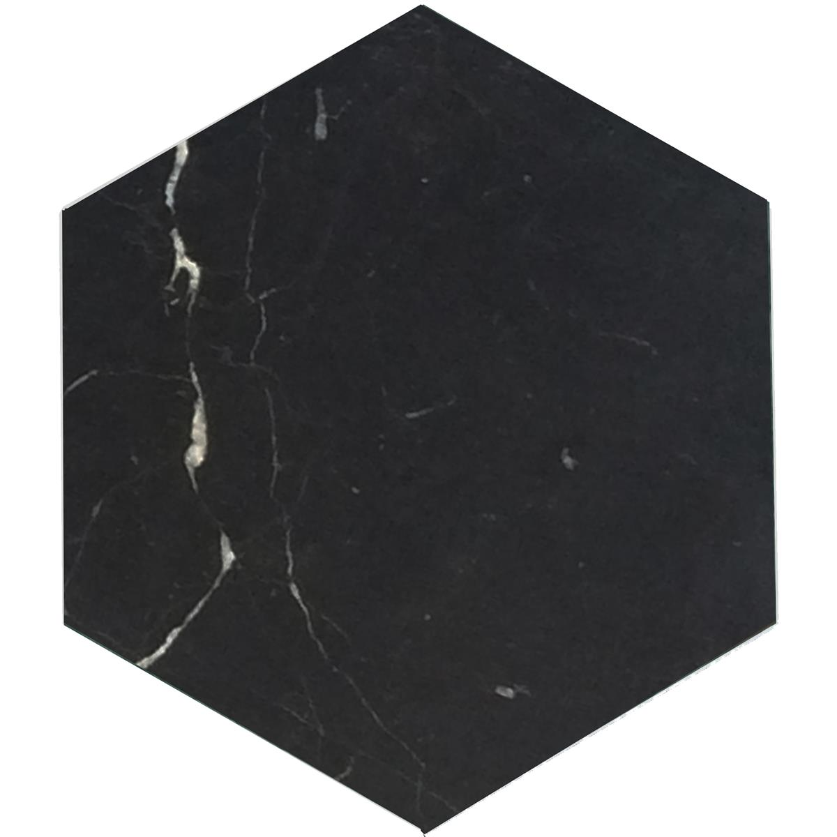 Nero marmor hexagon 15x17,3x1 cm