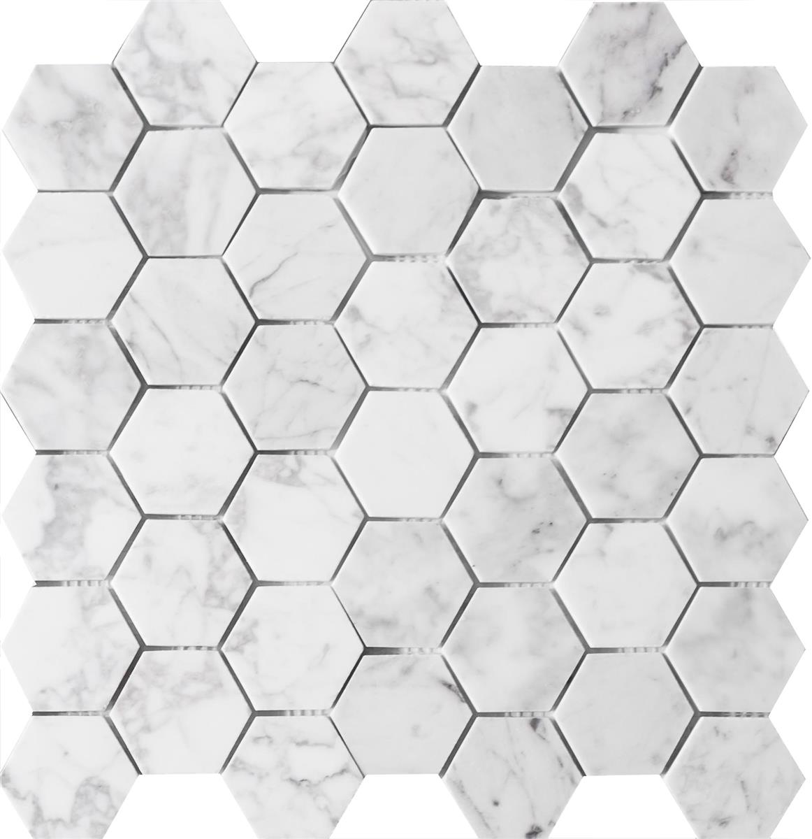 Carrara Marmor hexagon 4,8x4,8x1 cm
