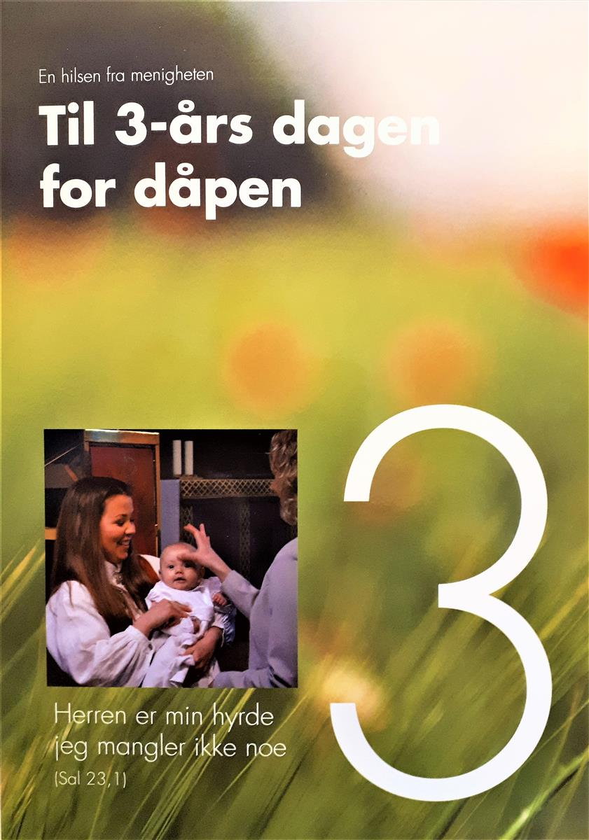 Til 3-årsdagen for dåpen