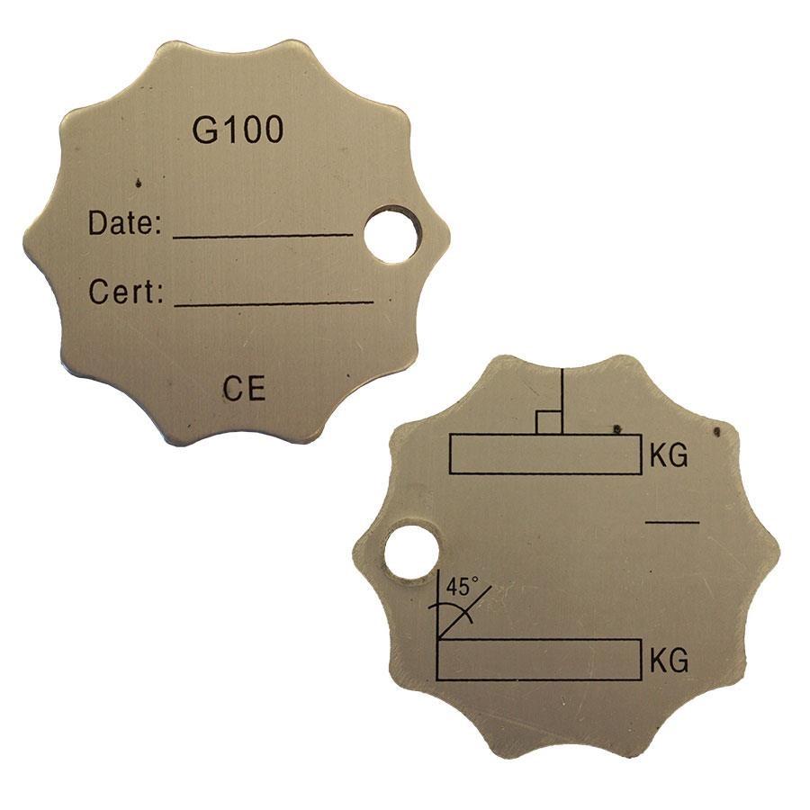 Merkebrikke G100 nøytral - Aluminium