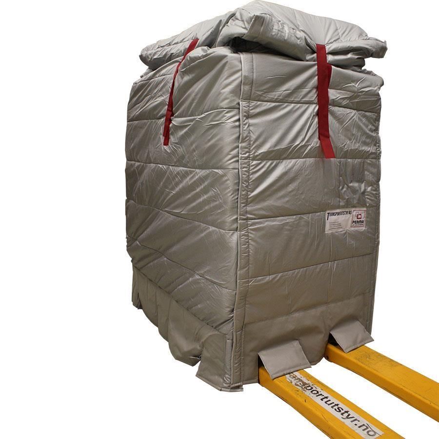 Perma isolert pallehette forsterket 82x122x120-150cm