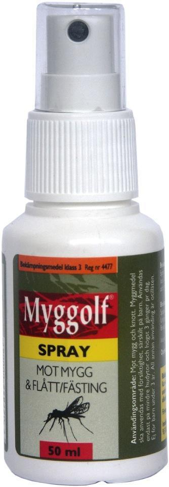 Myggolf Spray 50 ml. mot Mygg og Flått
