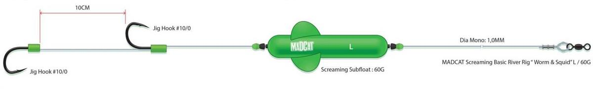 Madcat Screaming Profi River Rig Deadbait  L / 60 g.
