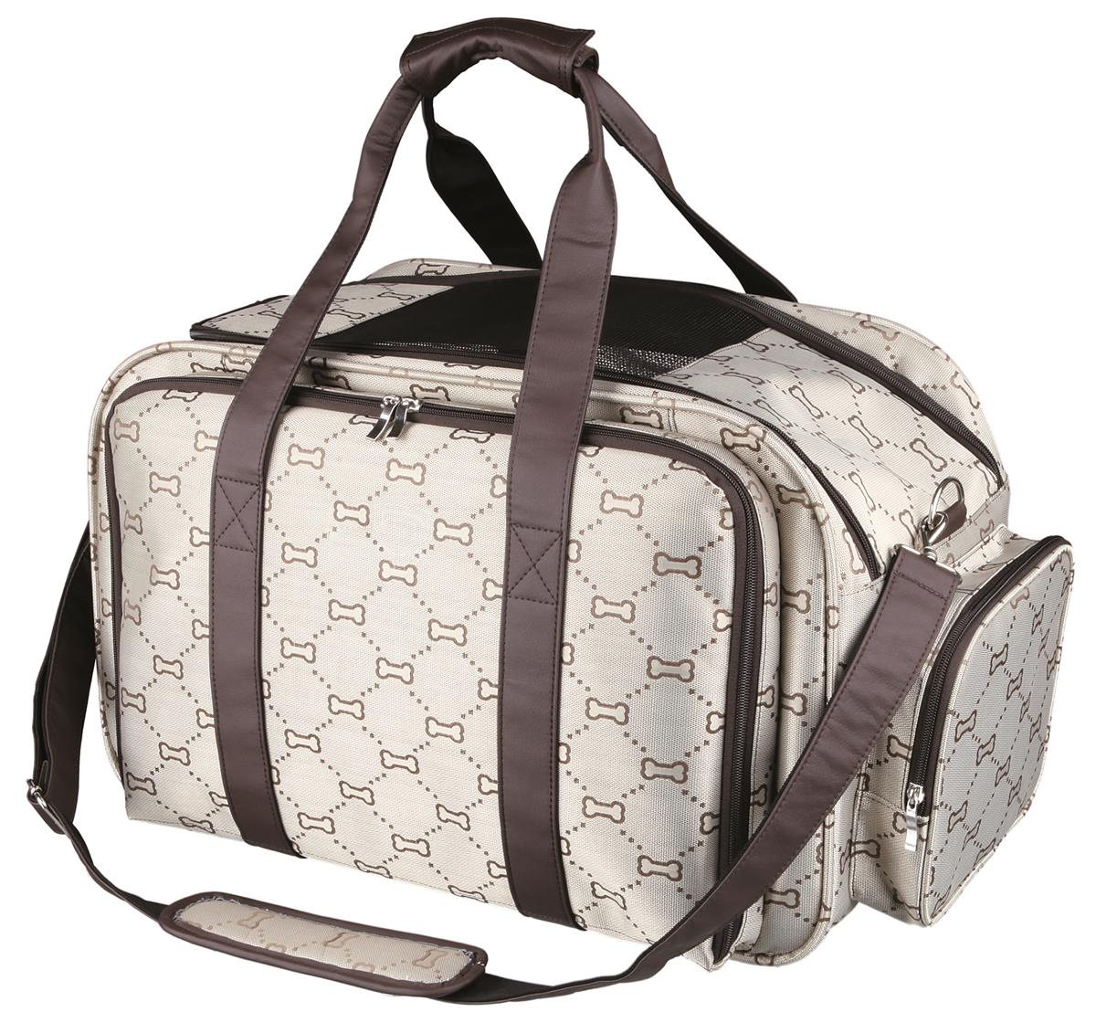 Transportbag Maxima 28903 Polyester Beige/Brun 54x33x32cm Max 8kg