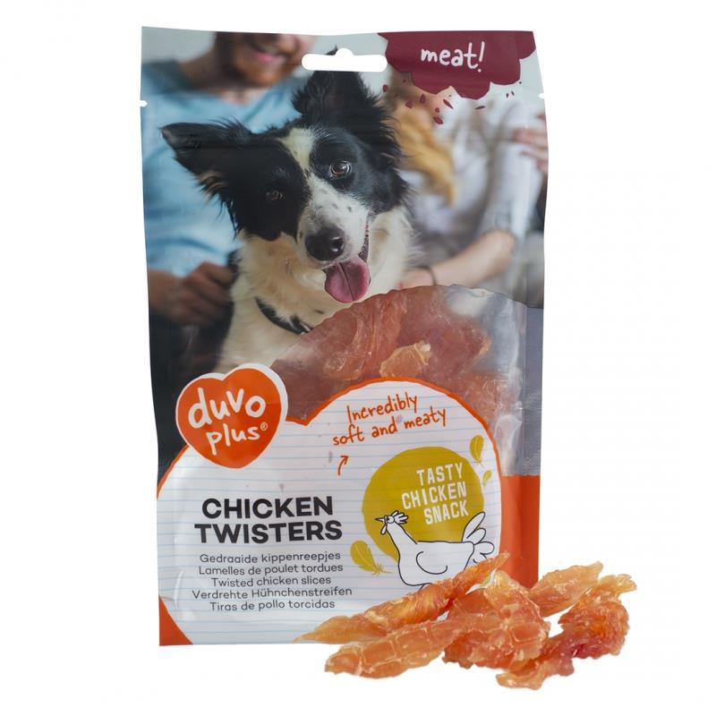Chicken Twisters 80g Duvo Plus (10stk)