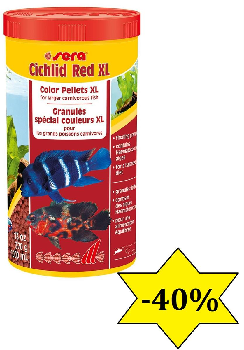 Fiskefor Sera Cichlid Red XL 1000ml 214