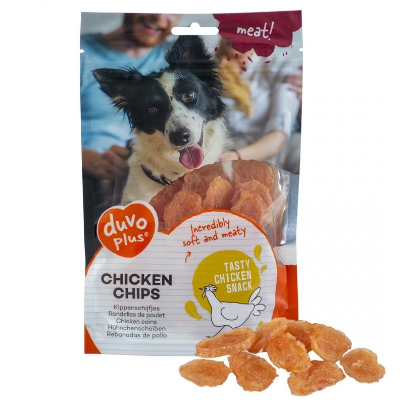 Chicken Chips 80g Duvo Plus (90% Kjøtt) (10stk)
