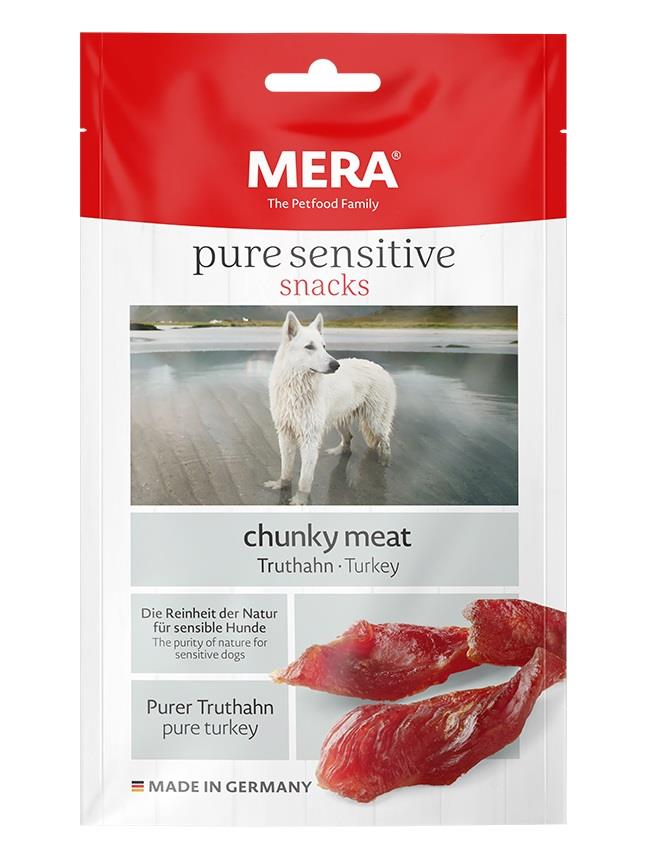 Meradog Pure Sensitive Chunky Meat Snack Kylling 100g (9stk)