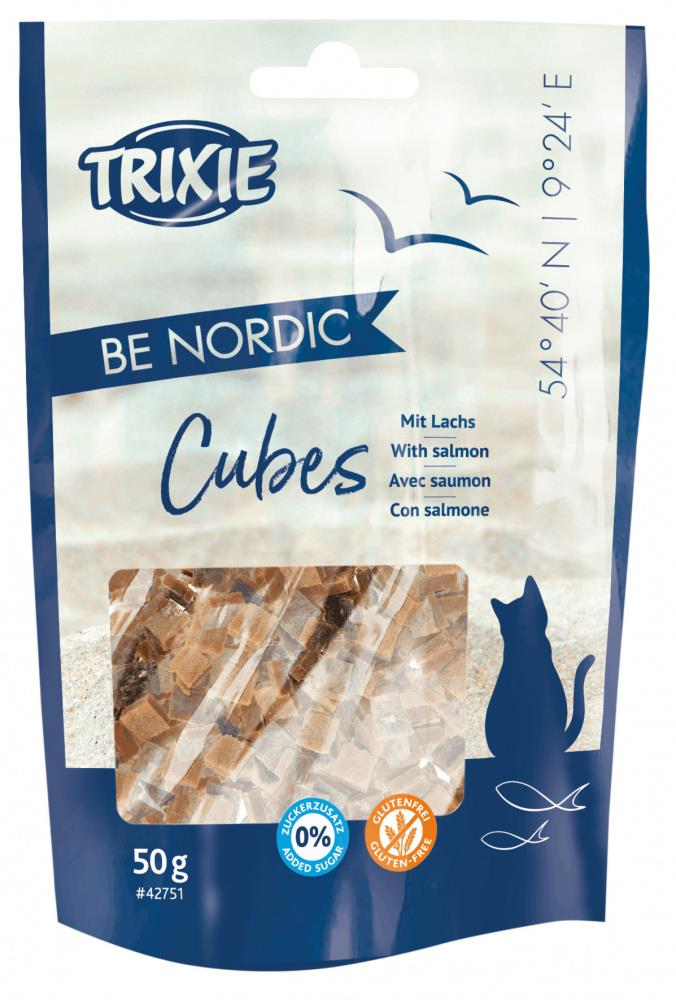 Salmon Cubes BE NORDIC M/90% Fisk 50g (12stk)