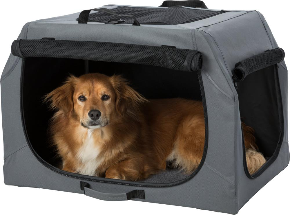 Transportbur 39732 Soft Kennel Easy S/M 71x49x51cm Grå