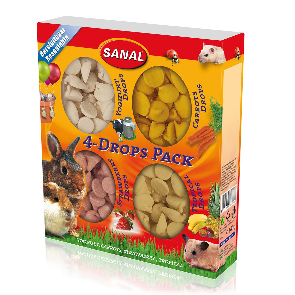 Sanal Gnager 4-Drops Pack 140g (Pk pris 10stk)