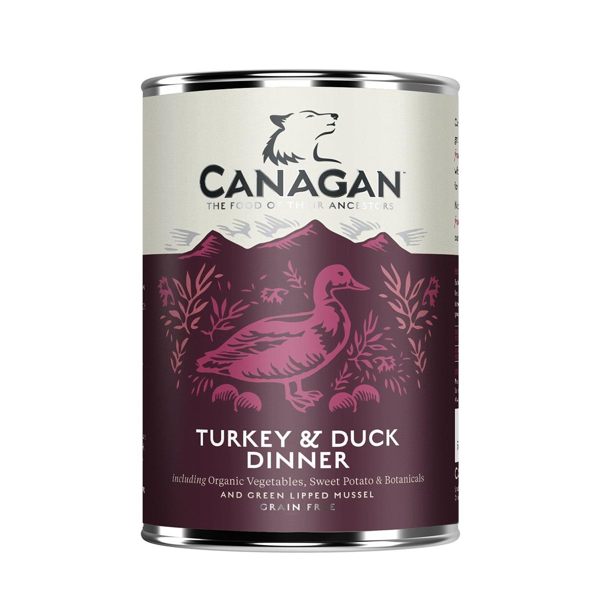 Canagan Boksemat Hund Turkey & Duck Dinner 6stk x 400g (Pk pris)