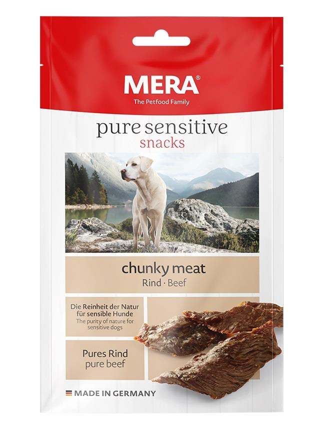 Meradog Pure Sensitive Chunky Meat Snack Biff 100g (9stk)