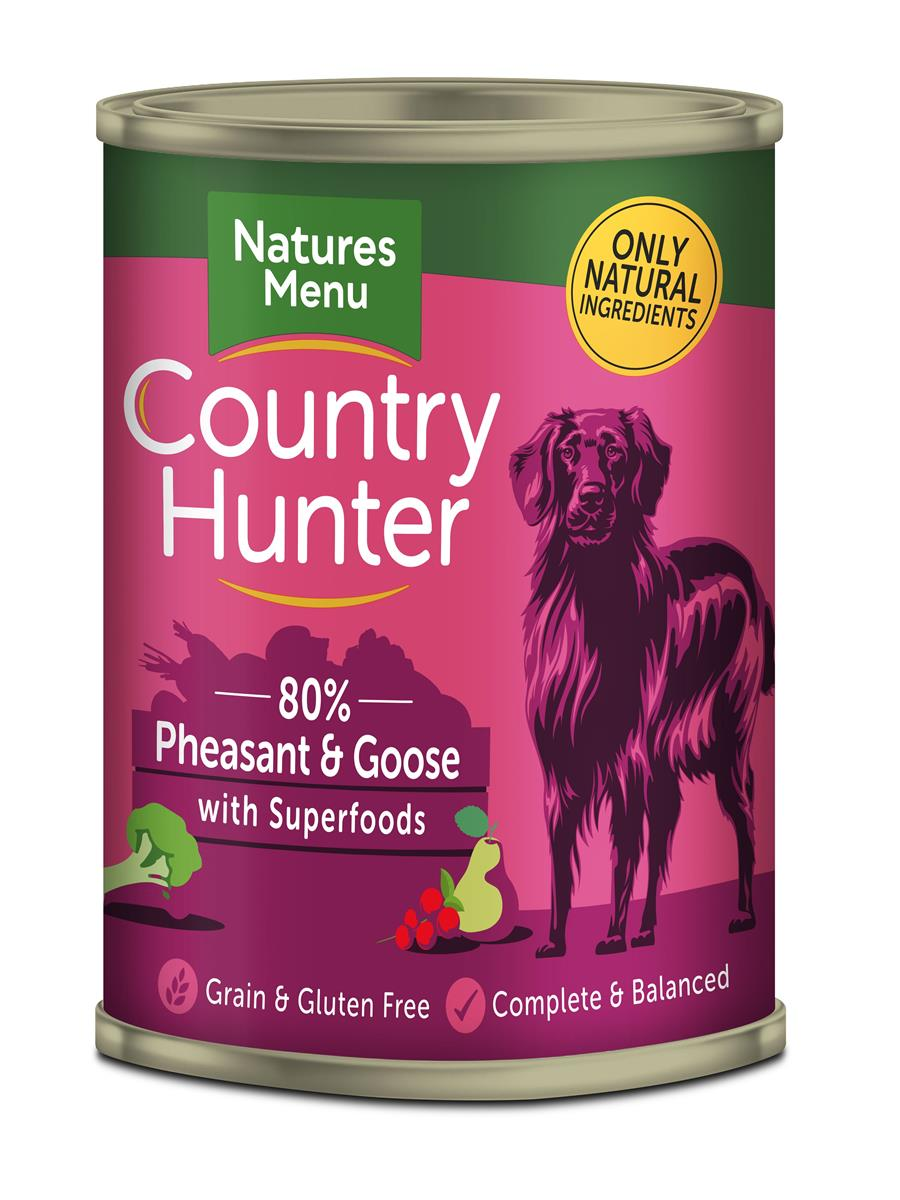 NM Boksemat Hund Country Hunter 80% Fasan & Gås 400g (6stk) Rød