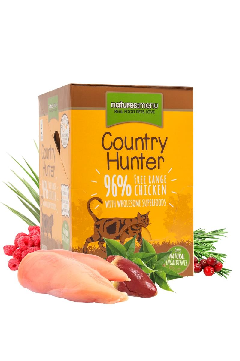 NM Pouches Katt Country Hunter Kylling og Hjerte 85g (6stk) Gul
