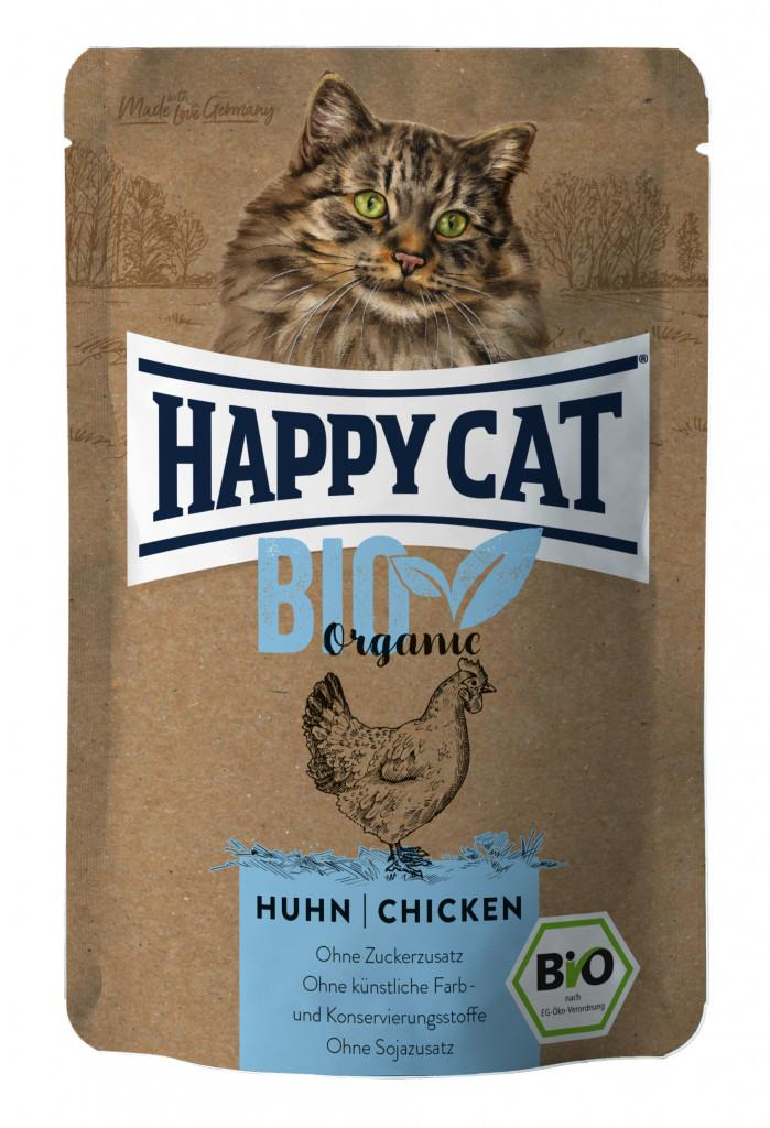 Happy Cat Pouches Adult Bio Kylling 85g (12stk)