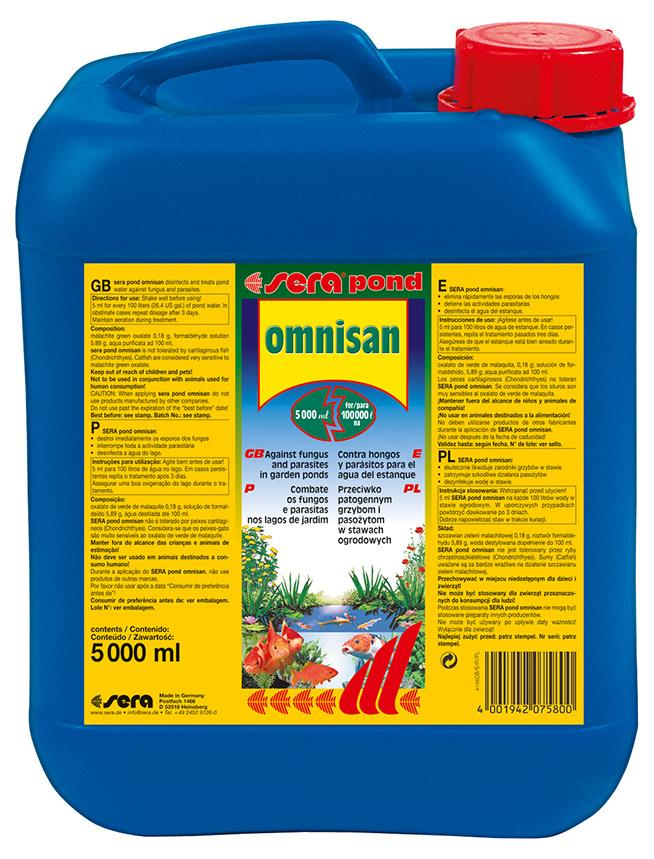 Fiskemedesin Sera Omnisan Pond 5000ml. 7580