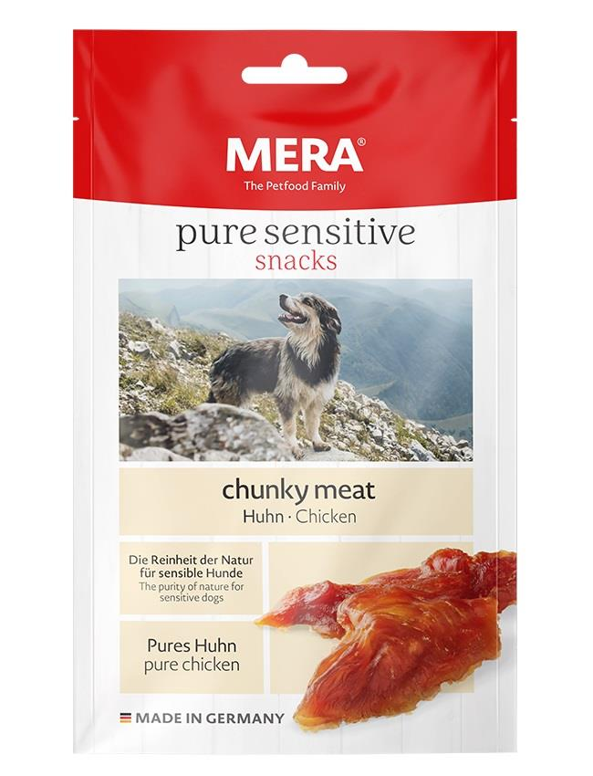 Meradog Pure Sensitive Chunky Meat Snack Kalkun 100g (9stk)