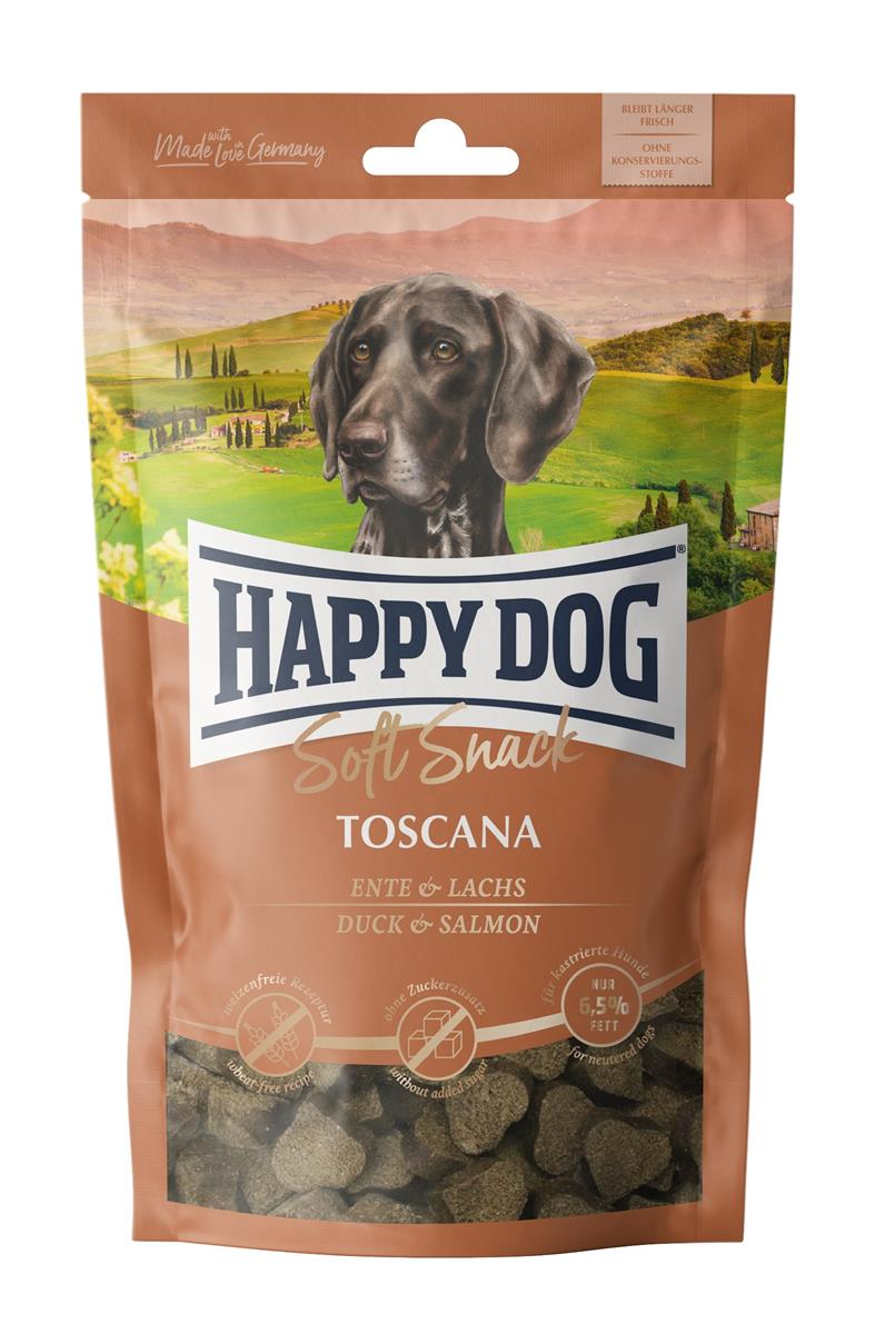 Happy Dog Supreme Soft Snack Toscana (And & Laks) 100g