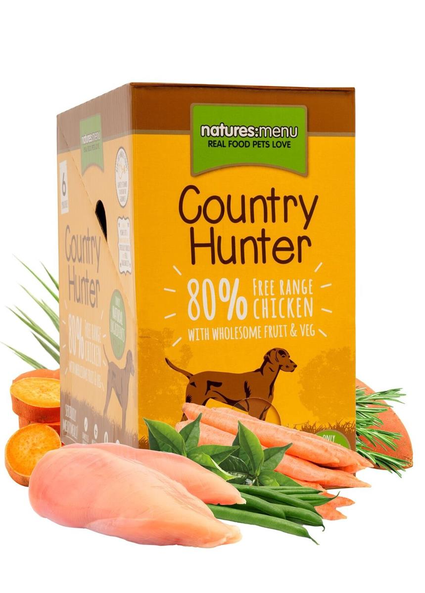 NM Pouches Hund Country Hunter Adult Kylling 150g (6stk) Gul