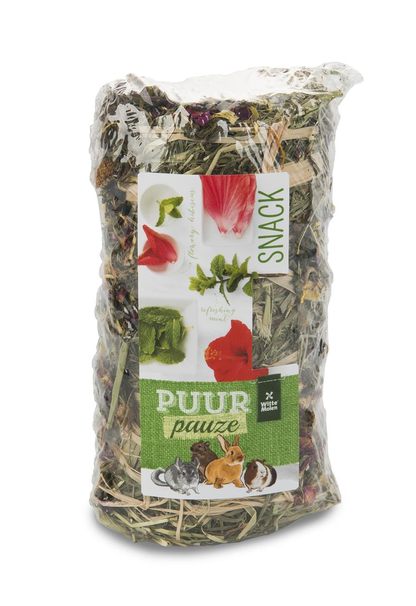 Puur Høyrull Gnager M/Hibiscus (Blomster) & Mint 200g