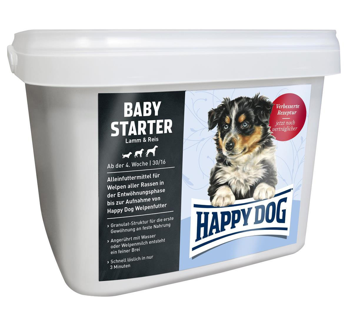 Happy Dog Baby Starter Lam & Ris 1,5Kg
