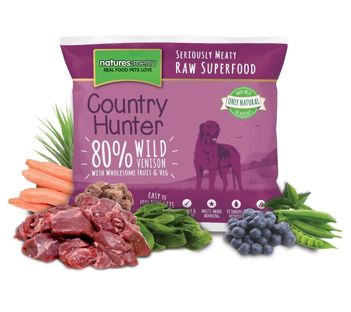 NM Frossent Country Hunter 80% Vilt, Frukt & Grønnsaker 1Kg PLOMME