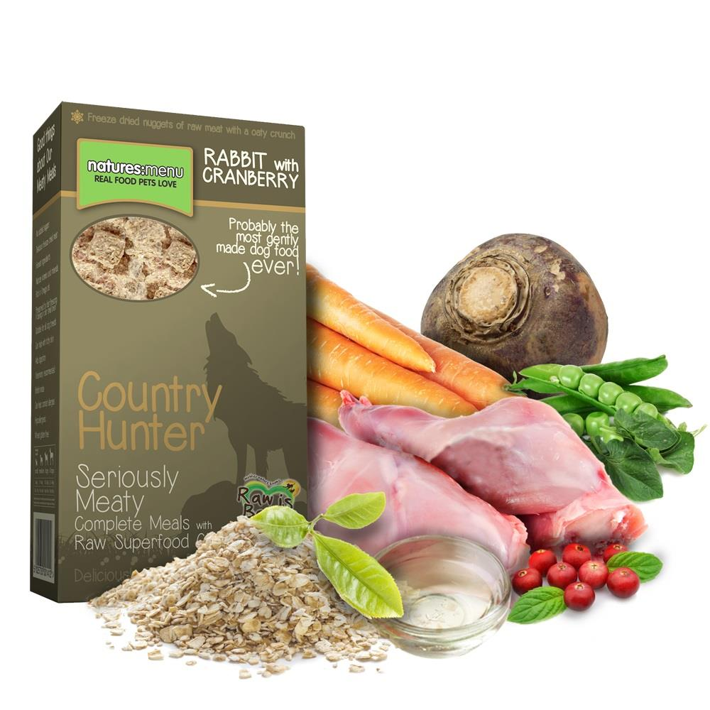 NM Frysetørket Crunch Country Hunter Hund Kanin 700g (8stk) Brun
