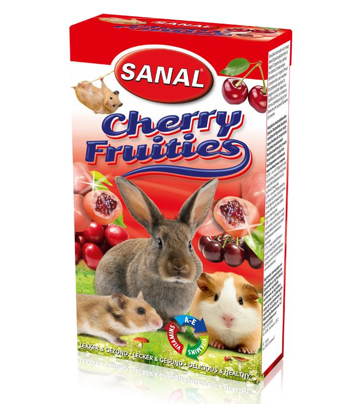 Sanal Gnager Cherry Fruities Drops 50g (Pk pris 14stk)
