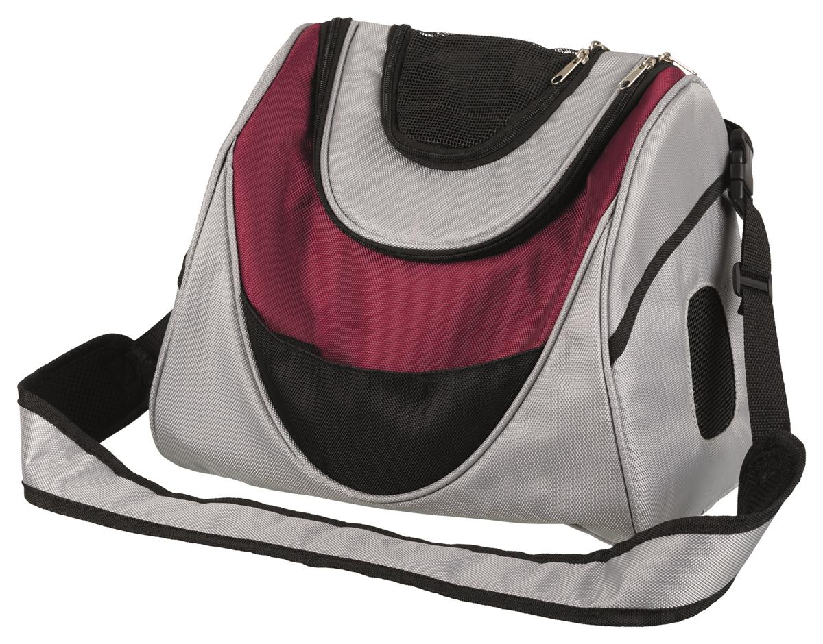 Transportbag Mitch Front Carrier 28955 Polyester Sølv/Plomme 35x22x28cm Max 5kg