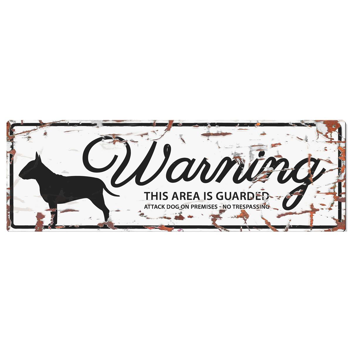 Warning Sign Bull Terrier