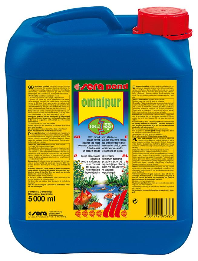 Fiskemedesin Sera Omnipur Pond 5000ml 7572