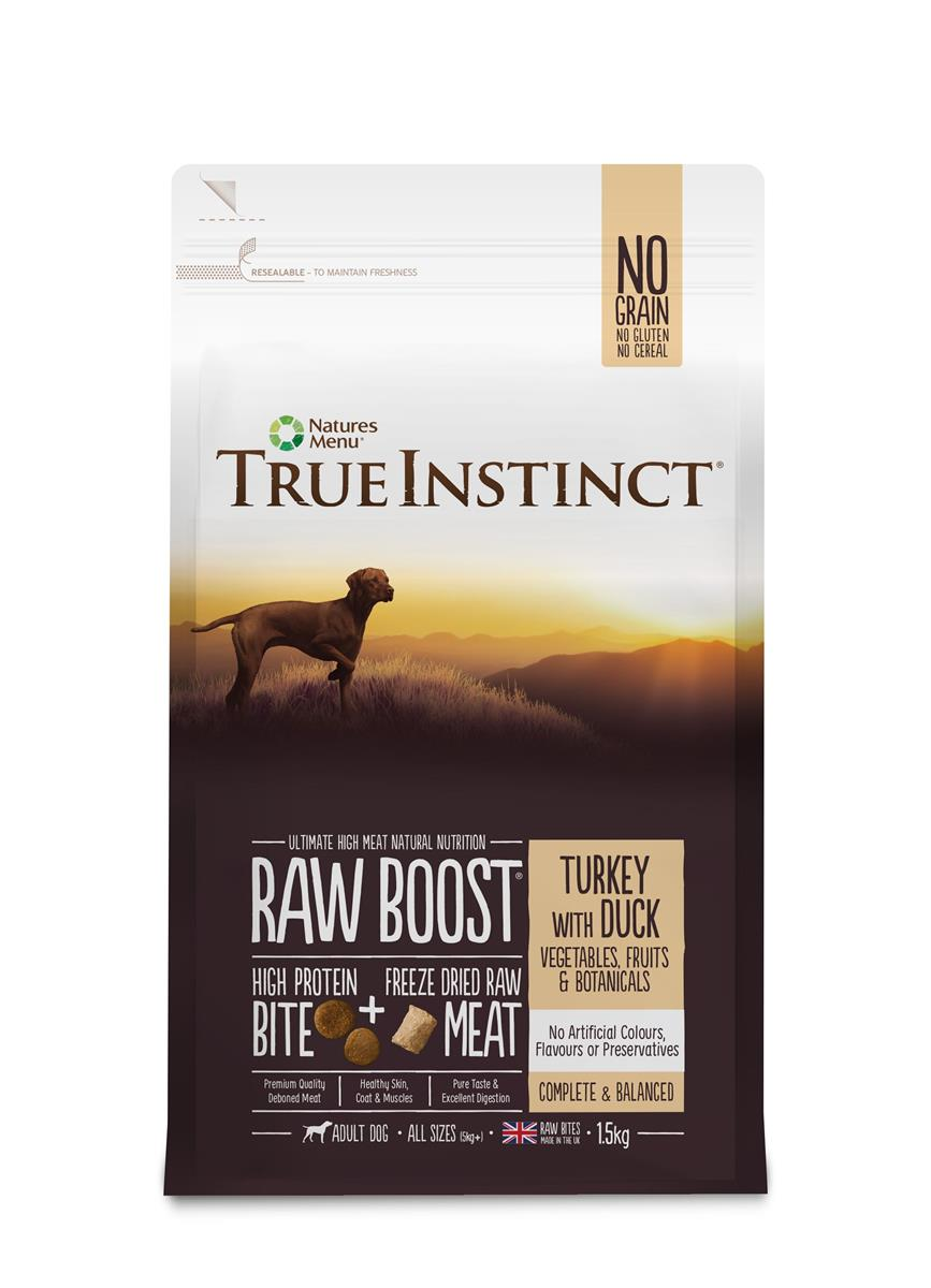 True Instinct Raw Boost Hund Kalkun & And 1,5Kg