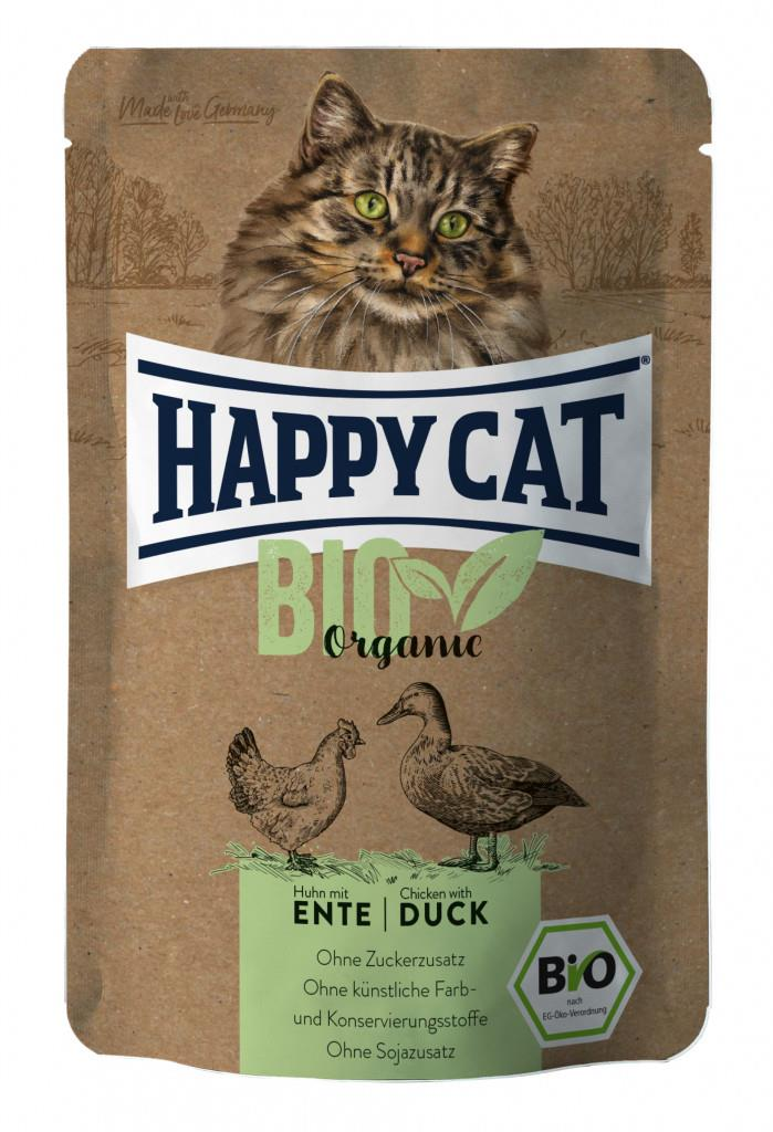 Happy Cat Pouches Adult Bio Kylling & And 85g (12stk)