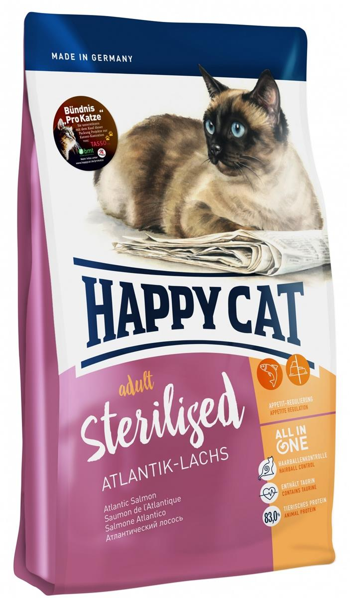 Happy Cat Supreme Adult Sterilisert Atlantik-Laks 10Kg
