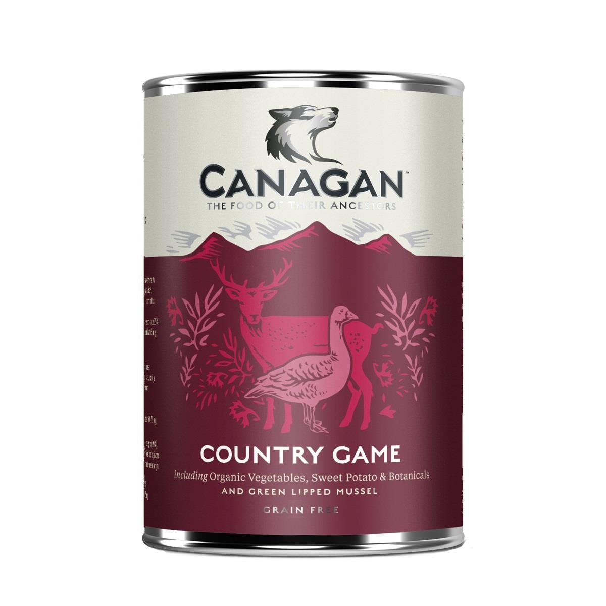 Canagan Boksemat Hund Country Game 6stk x 400g (Pk pris)