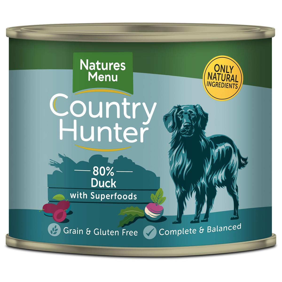 NM Boksemat Hund Country Hunter 80% And & Plomme 600g (6stk) Petrol