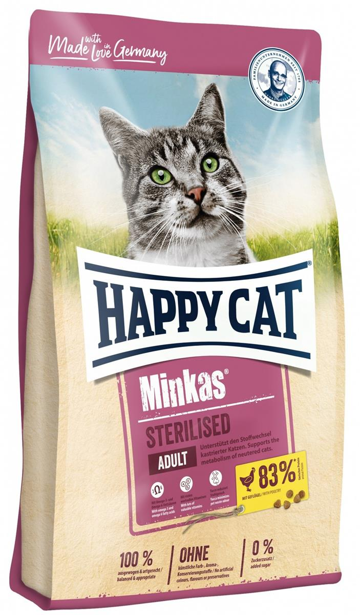 Happy Cat Minkas Sterilisert Fugl 10Kg