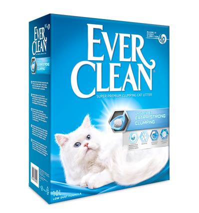 Kattesand Ever Clean Extra Strong Clumping Unscented 10L