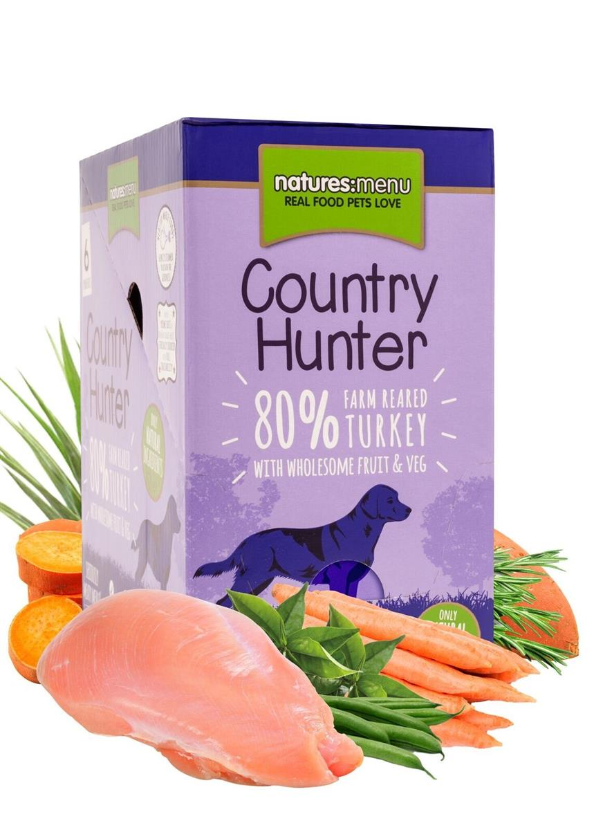 NM Pouches Hund Country Hunter Adult Kalkun 150g (6stk) Lilla